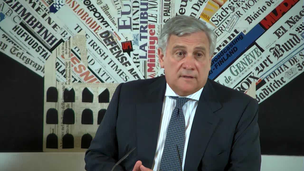 Antonio Tajani alla Stampa Estera