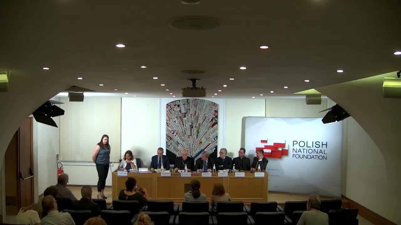 """Presentazione del libro """"San Giovanni Paolo II e la Sua Europa"""" di Grzegorz Galazska."""