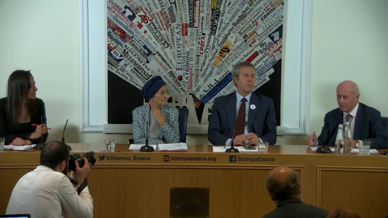 Emma Bonino e Benedetto Della Vedova incontrano la stampa
