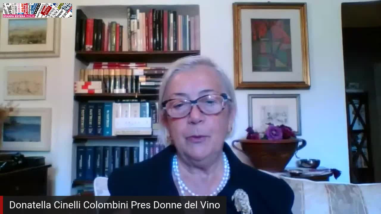 Incontro in streaming con Donatella Cinelli Colombini Presidente Ass. Donne del Vino