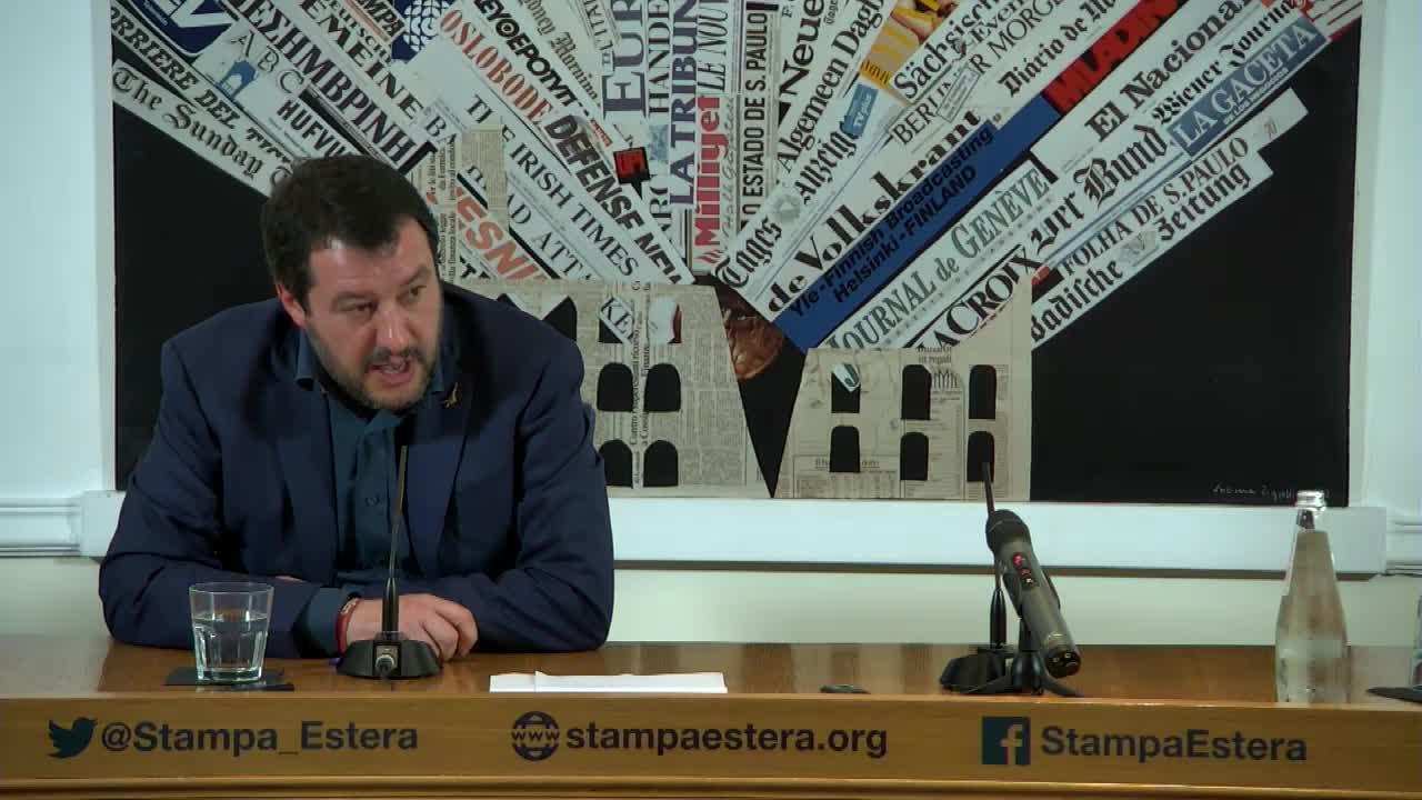 Matteo Salvini alla Stampa Estera