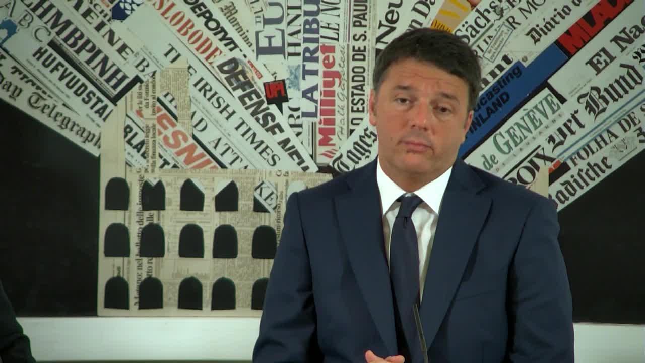Matteo Renzi alla Stampa Estera